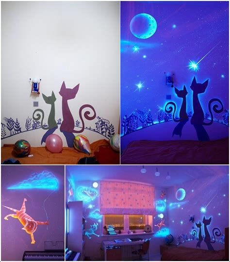 glowing for room glow in the paint and decals for your child s room amazing house design