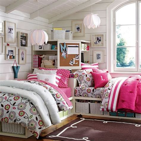 pbteen bedrooms cottage stripes pbteen cotton bedding pink pb