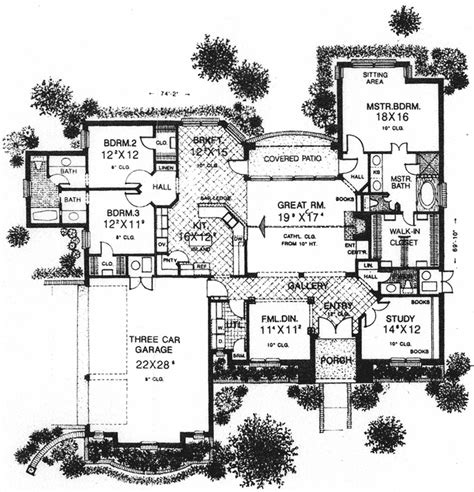 european house plans one story european style house plans 2547 square foot home 1