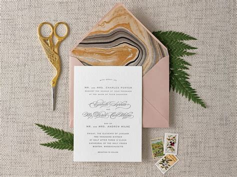 diy this gorgeous envelope liner for your wedding invitations