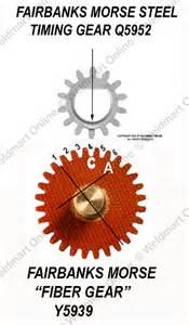Diagram of fairbanks morse steel timing gear g5952 and fairbanks morse