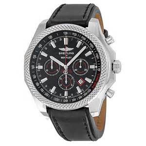 And Bentley Watches Breitling Bentley Barnato Black Black Leather