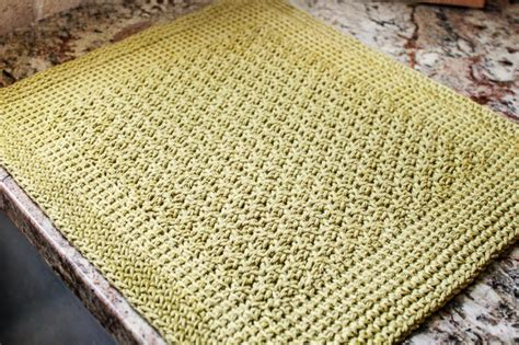 Mat Pattern by Tunisian Crochet Kitchen Mat Pattern Petals To Picots
