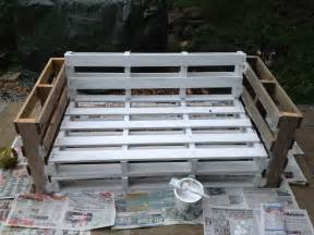 pallet sofa secure all of the pieces together paint