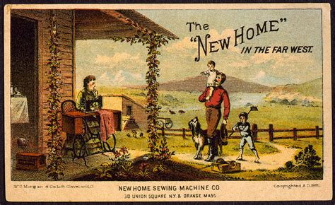 the new home in the far west trade photograph by everett