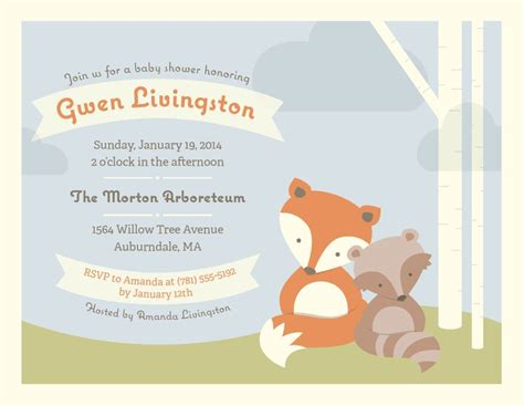 Vistaprint Baby Shower Invitations by 1000 Images About Woodland Baby Shower On