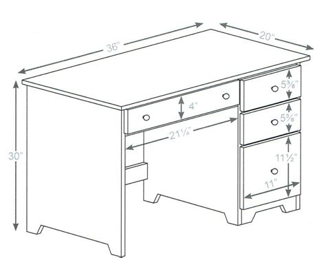 Average Desk Dimensions Pictures to Pin on Pinterest