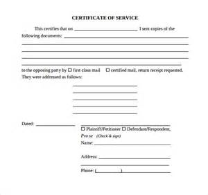 Certificate of service template 11 download free documents in pdf