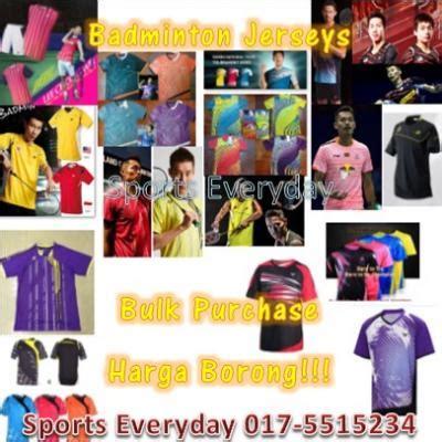 wts badminton yonex lining victor jersey
