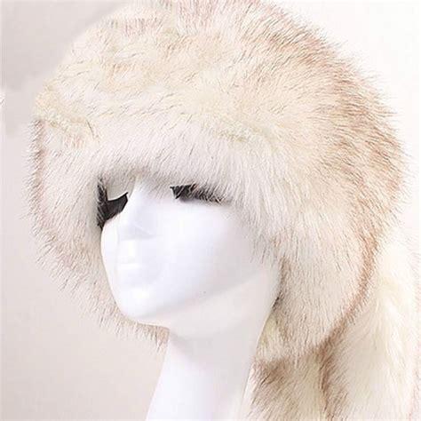 warm luxury cap russian cossack faux fur hats hat