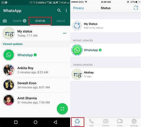 best whatsapp status updates how to use new whatsapp status update feature on android