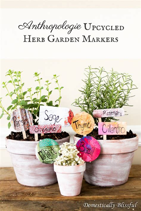 Anthropologie Gardens by Anthropologie Upcycled Herb Garden Markers