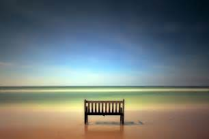 Aluminum Bench Sea View Hd Wallpapers Pictures One Hd Wallpaper