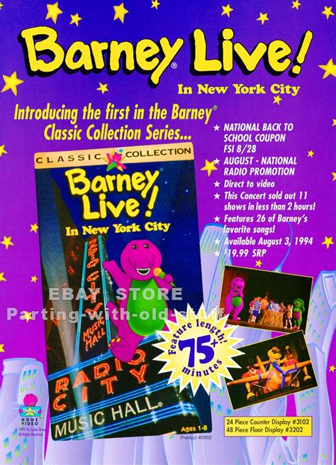 660 am radio fan nyc image barney live in new york city promo ad by