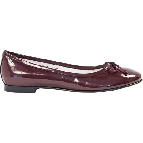 burgundy flat shoes burgundy patent leather ballerina flats paolo shoes