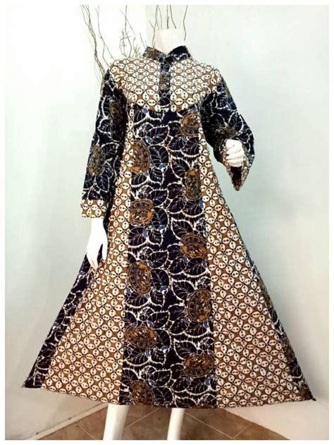 jual dress gamis batik hana sogan di lapak otjang penjual