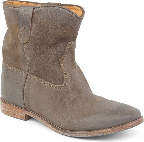 marant crisi suede ankle boots in gray taupe lyst