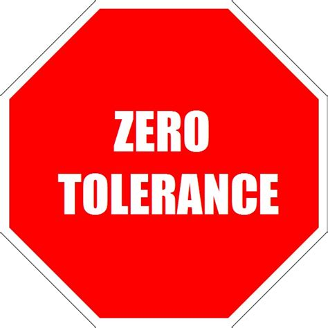 zero telorance zero tolerance policy for junior competitions gold coast