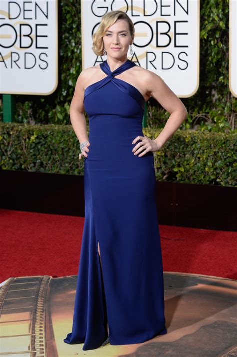 Kate Winslet At The Golden Globes by Kate Winslet Wins Best Supporting For Steve