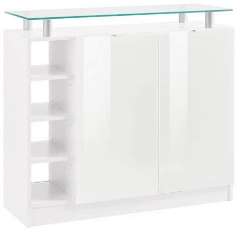 Kommode Mit Glas. Sideboard In Weiss Hochglanz Mit