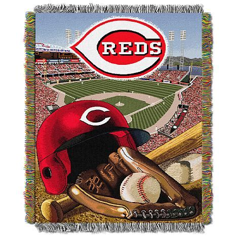 cincinnati reds bedding official mlb 48 quot x 60 quot tapestry throw by northwest