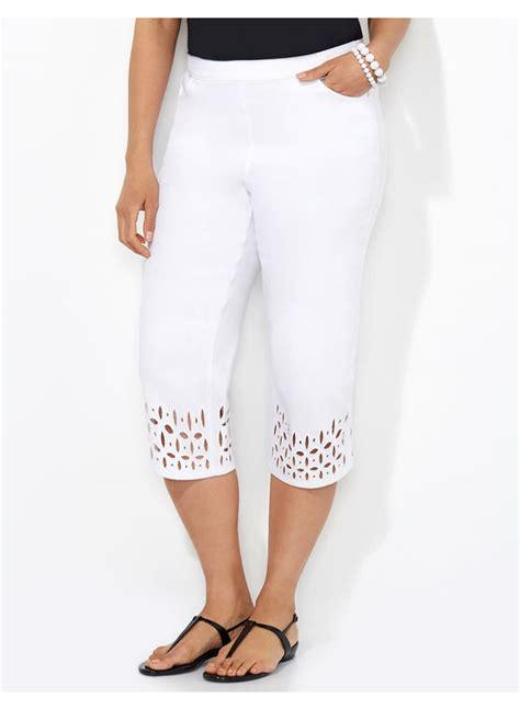 Plus Size White Capris - Trendy Clothes Gloria Vanderbilt Capris Pants