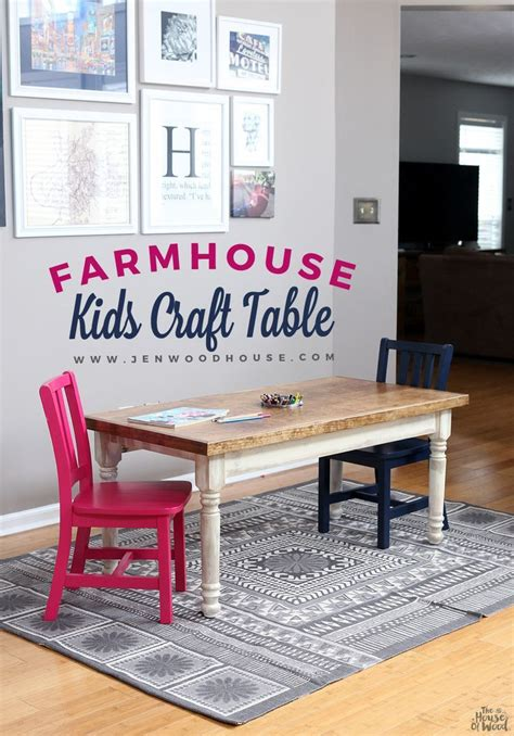 kid kitchen table farmhouse table craft tables craft and playrooms