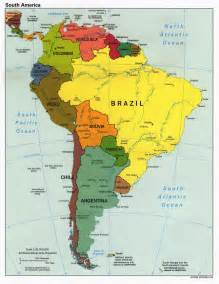 Map Of The South Of Usa by Large Detailed Political Map Of South America South