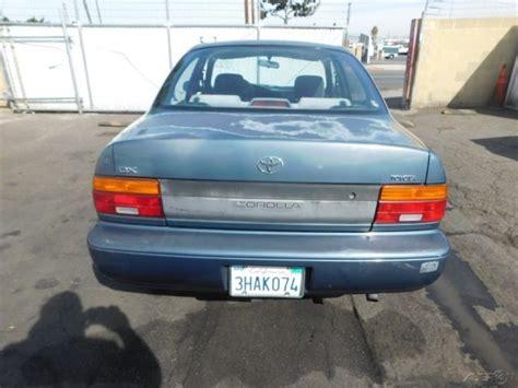 1994 Toyota Dx C 1994 Toyota Corolla Dx Used 1 6l I4 16v Automatic Sedan