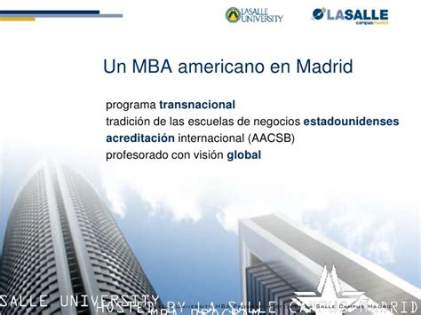 La Salle Mba Application by Presentaci 243 N Mba Philadelphia La Salle Igs Madrid Sep10