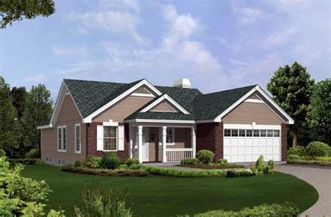 Traditional House Plans One Story Traditional Style House Plans 1302 Square Foot Home 1 Story 3 Bedroom And 2 Bath 2 Garage