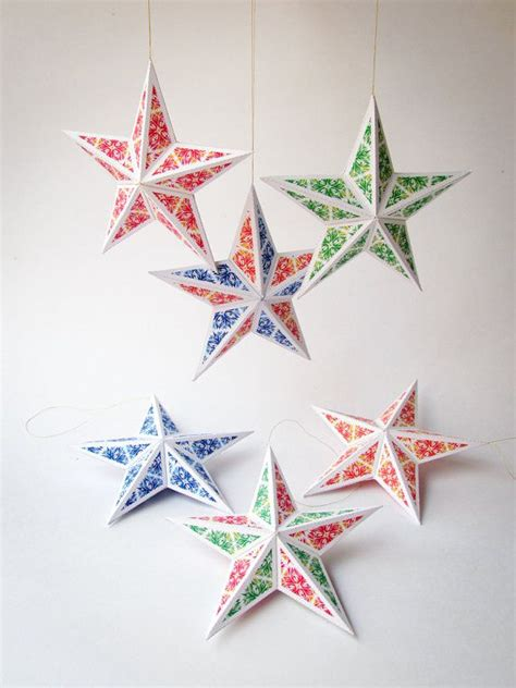 printable star ornaments 17 best images about diy printables and 3d paper models by
