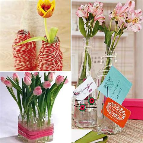 Make Flower Vase Home by 3 Ideas For Diy Recycling Glass Vases And Flower Arrangements