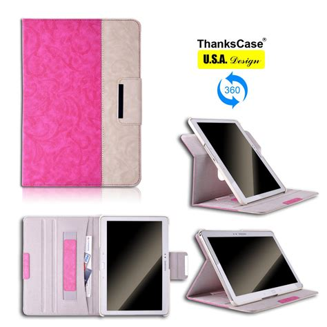 Samsung Note 10 1 2014 2nd Hp Cas thankscase samsung galaxy tab pro 12 2 note 12 2 wallet rotating cas thankscase