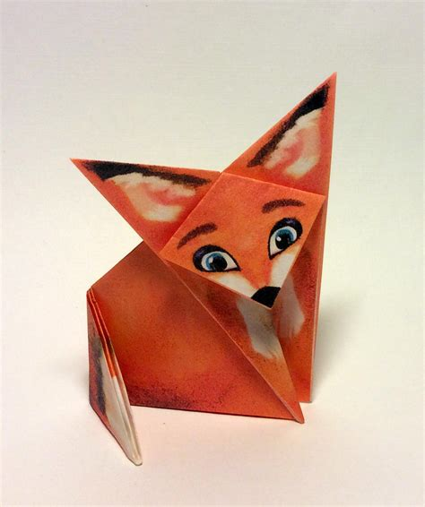 3d Origami Fox - origami fox and print the paper for this