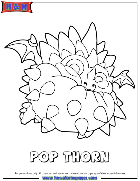 free pop fizz the skylander coloring pages