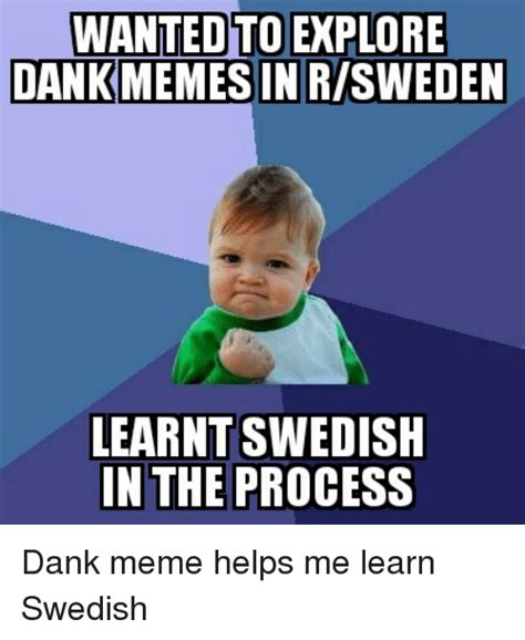 Swedish Meme - wanted toexplore dankmemesinrisweden learnt swedish in the
