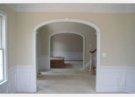 How To Trim A Door Opening by Custom Arched Opening With Elliptical Arch Keystone