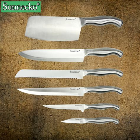 6pcs kitchen knife set stainless steel kitchen chef knife sunnecko 6pcs kitchen knife set 3cr13 stainless steel