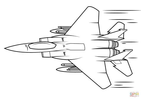 F 16 Coloring Pages by F 15 Eagle Coloring Page Free Printable Coloring Pages