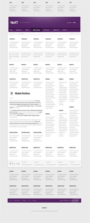 next clean corporate joomla template by 7studio themeforest