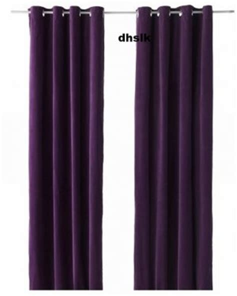 purple velvet curtain ikea sanela curtains drapes 2 panels lilac purple velvet 98 quot