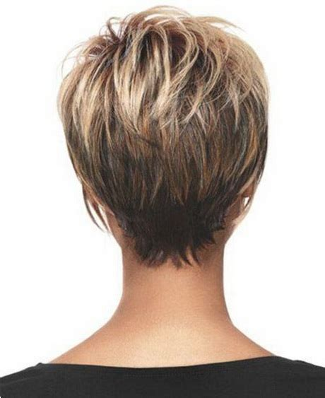 back of pixie hairstyle photos short stacked hairstyles back view