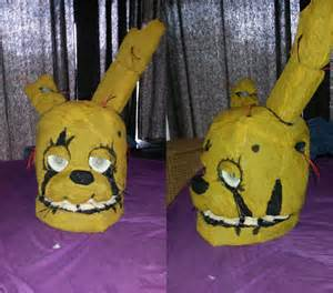 Springtrap head cosplay finished by lundain on deviantart