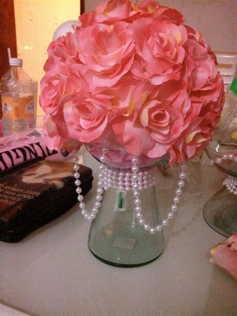 1000 images about centros de mesa on centro de mesa rosa chanel baby shower for tamara chanel baby shower and fiestas