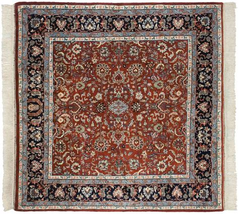 rug square 5 215 5 kashan rust square rug 034099 carpets by dilmaghani