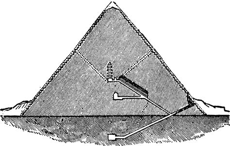 section of pyramid great pyramid section clipart etc