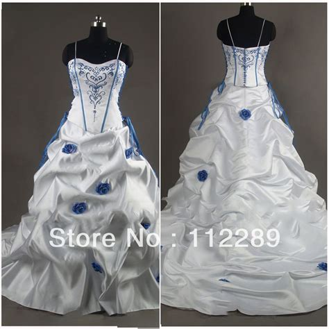 wedding dresses royal blue and white white and royal blue wedding dresses s style