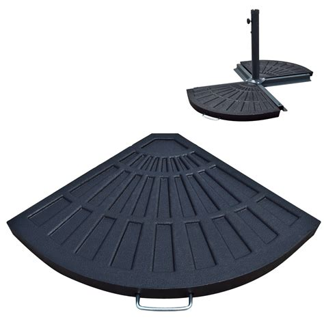 Patio Umbrella Stand Base 10 Ft Patio Umbrella 30 Lb Resin Base Stand Outdoor For Aged Metal Decor Ebay