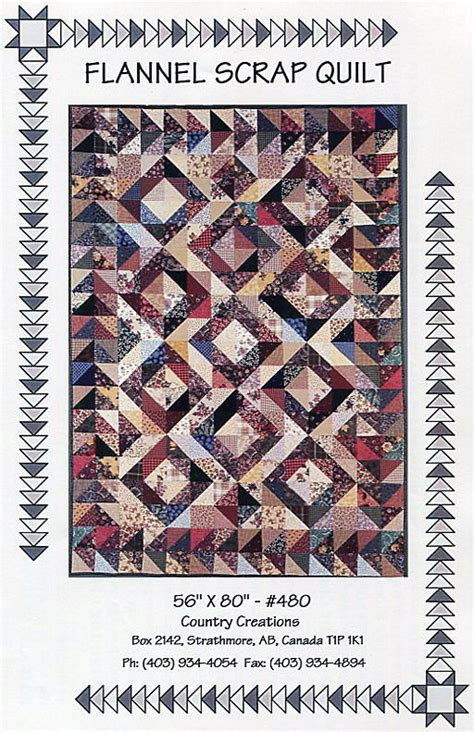 Country Creations Quilt Shop by Flannel Scrap Quilt Pattern By Country Creations
